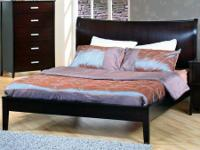 Brand new  Solid Wood Queen Platform Bed in Cappuccino