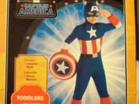 I have a size 2T Captain America Halloween costume. New