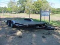 "New 2011 Ironworks Challenger 83"" x 18' steel bed car"