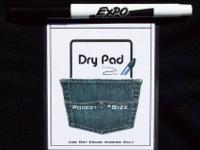 "New ""Cell Note"" Pocket Dry Erase Pad With Free Felt Tip"