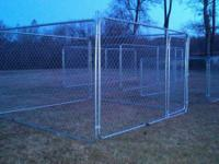New Chain Link Dog Pen Kennels  10x10x6 $195 each