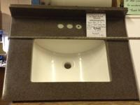 NEW CHARCOAL COLORED BATHROOM VANITY TOP. WITH