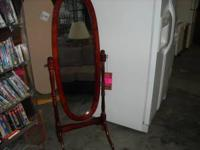 New cheval mirrors in cherry and oak finish. $65 NEW