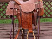 This beautiful saddle is brand new, never been on a