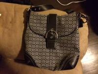 $270 OBO for Never been used Coach black jacquard front