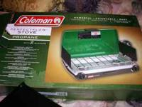 Brand new Coleman 2 burner propane stove, still in