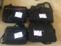 4 new computer/laptop bags. $3 each. Tried to put the