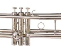 New Concert Band Real Silver Plated Trumpet