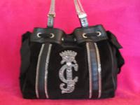 Stunning black velour handbag made by high-end