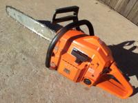 "Near New - 18"" Gas, Chainsaw, Husqvarna, With Case -"