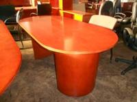 Nice wood veneer tables for important meetings. Sizes