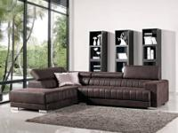This contemporary straight line sectional sofa suits