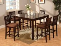 Very Elegant Counter Height Dining Set with Faux Marble