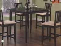 NEW COUNTER HEIGHT TABLE W/4 CHAIRS $299  COME IN AND