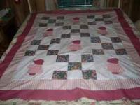 New Crib size Quilt for sell $75.00, Hand Applique and