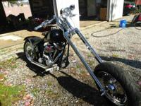Custom built Chopper. 200 back tire softail frame .