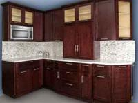 Natural or Espresso Shaker cabinets! 14ft of wall and