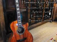 New Dean Hawaiian Koa Timber Acoustic/Electric guitar