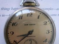This antique New Sanctuary compensated pocket watch was