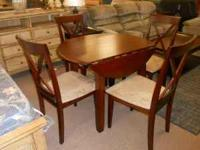 Drop Leaf Table with FOUR microfiber covered chairs!!