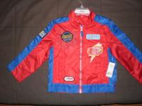 New with tag Disney Cars Boys 2-pocket zipper Jacket