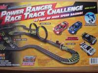 Power Rangers Race Track Challenge. Electric Car Racing