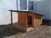 For sale very nice large dog house. Has shingled roof