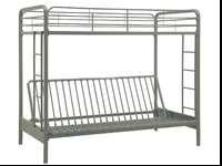 I'm selling this new twin over full futon bunk bed,