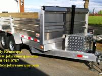 NEW Dump hydraulic trailer (From Qubec, Canada.