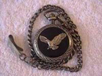 This is a Brand-new Benrus Eagle Pocket watch. It