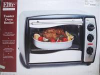 NEW ELITE TOASTER OVEN, CAN BE SEEN AT CASTLE RENTAL