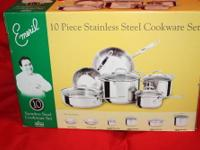 Emeril Lagasse 10 piece Stainless Steel Cookware Set
