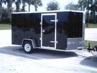 2012 New Enclosed Cargo Trailer 6x12. V- Nose, Ramp