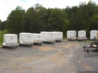 Many Trailers of different types and sizes in stock on