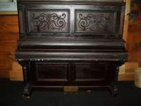 1885 Vintage Victorian Cupboard Grand Piano made by the