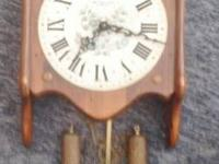 New England Clock, works.  Chimes, pendulums.   $74