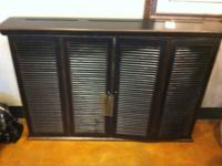 Gorgeous wall mount entertainment cabinet. Perfect for