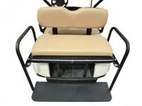 NEW IN BOX Tan Rear Flip Seat Kit for EZGO Golf Cart