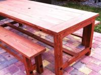 (NEW) Farmhouse Style Table. All shapes, sizes and