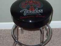 Awesome looking Fender Custom Guitar stool. Ph;
