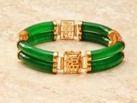 JB-1 Fine Quality Jade Large Double Link Bracelet Fine