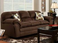 New hot item now on clearance! Flatsuede Chocolate sofa