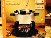 Ready to party? Selling a brand new fondue set, never