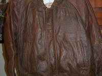 BRAND NEW NEVER WORN FORD LEATHER JACKET, STILL IN THE