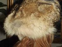 NEW Fox Hat from NEW YORK Furrier (Tan, Brown, Rust,
