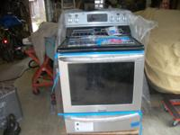 This sale is for a new Frigidaire induction range with