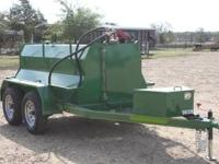 New 990 gallon, three baffle fuel trailer, 2 5200#