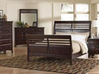 Must Sell Full size slat Sleigh bed and new mattress