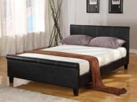 NEW Upholstered Platform Queen Bed by Asia Direct.