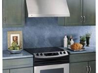 MSRP $1099 This sleek designer range hood adds style to